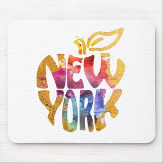 Tapis De Souris New York Apple, NYC. Calligraphie art. d'aquarelle