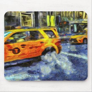 Tapis De Souris New York roule au sol l'art