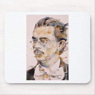 Tapis De Souris nietzsche de Friedrich - aquarelle portrait.2