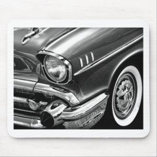 Tapis De Souris Noir 1957 et blanc de Bel Air de Chevrolet