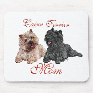 Tapis De Souris Noir et jour de mères de terriers de cairn de Brow