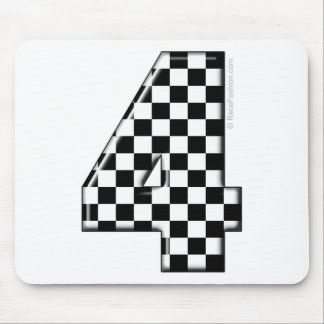 Tapis De Souris nombre checkered de l'emballage 4 automatique