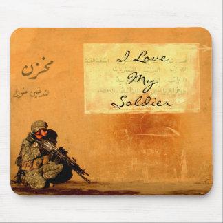 Tapis De Souris Note d'amour sur le soldat de militaires de mur