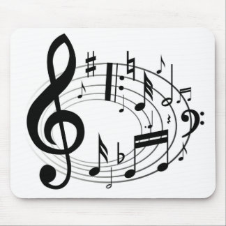Tapis De Souris Notes de musique (tapis de souris)