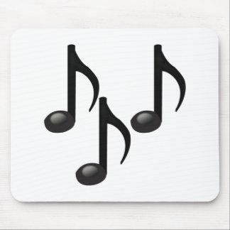 Tapis De Souris Notes musicales - Emoji