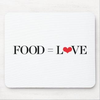 Tapis De Souris Nourriture = amour
