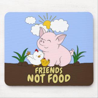 Tapis De Souris Nourriture d'amis pas - porc et poulet mignons