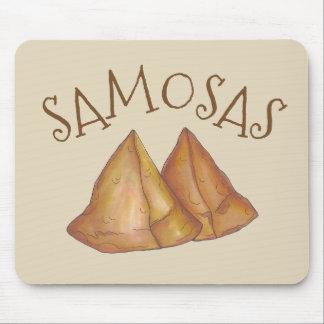 Tapis De Souris Nourriture indienne Samosas à cuire végétarien