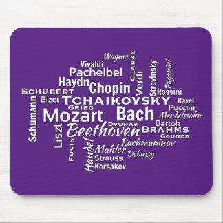 Tapis De Souris Nuage classique de mot de compositeurs