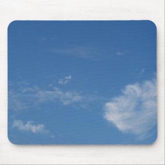 Tapis De Souris nuages bleu-foncé de blanc de ciel