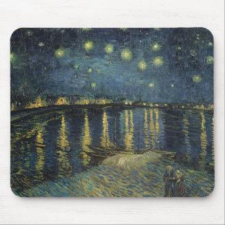 Tapis De Souris Nuit étoilée de Vincent van Gogh | au-dessus du