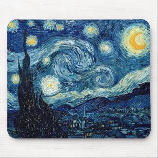 Tapis De Souris Nuit étoilée par Vincent van Gogh