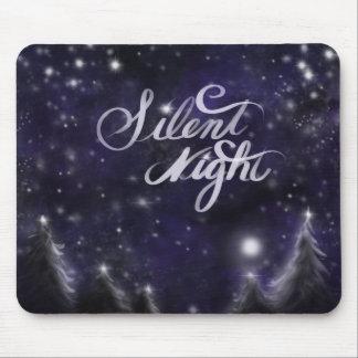 Tapis De Souris Nuit silencieuse - scène romantique de neige de