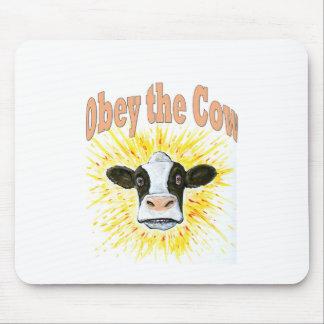 Tapis De Souris Obéissez la vache