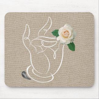 Tapis De Souris Odeur de Jitaku la toile Mousepad de roses