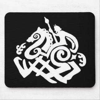 Tapis De Souris Odin et silhouette de sleipnir