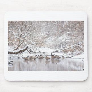 Tapis De Souris Oies dans la neige