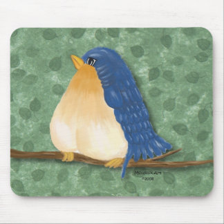Tapis De Souris Oiseau bleu mignon Mousepad