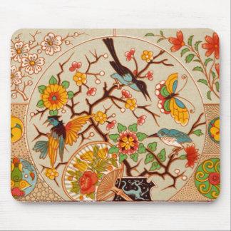 Tapis De Souris Oiseaux et papillons Mousepad