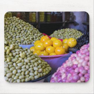 Tapis De Souris Olives et citron au marché