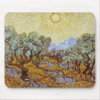 Tapis De Souris Oliviers de Vincent van Gogh  , 1889