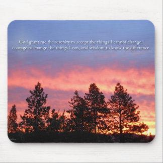 Tapis De Souris Orange bleue de lever de soleil de prière de