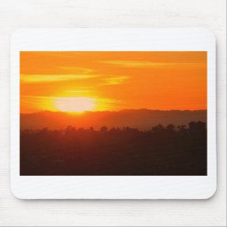 Tapis De Souris Orange orange Sun de ciel de Hollywood Los Angeles