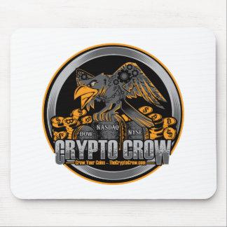 Tapis De Souris Orange sur la crypto corneille noire