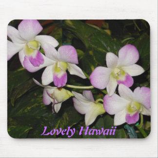 Tapis De Souris Orchidées hawaïennes Mousepad
