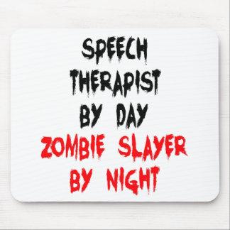 Tapis De Souris Orthophoniste de tueur de zombi