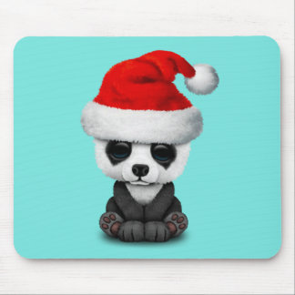 Tapis De Souris Ours panda de bébé utilisant un casquette de Père