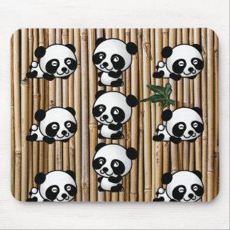 Tapis De Souris Ours panda et bambou Mousepad