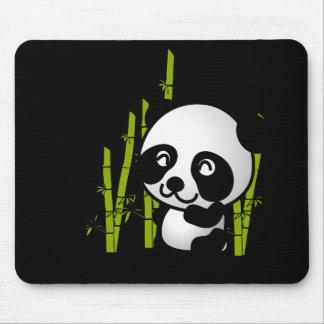 Tapis De Souris Ours panda noir et blanc mignon dans un verger en