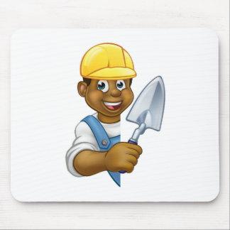 Tapis De Souris Outil de truelle de travailleur de la construction