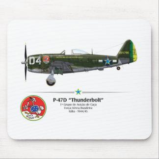 Tapis De Souris P-47D Thunderbolt - Assied le Foret - FAB