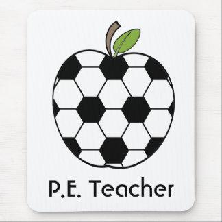 Tapis De Souris P.E. Ballon de football Apple Mousepad de