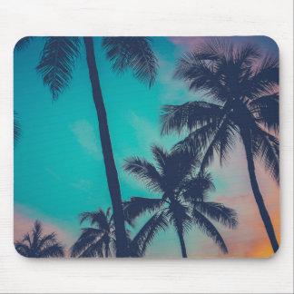Tapis De Souris Palmiers d'Hawaï au coucher du soleil