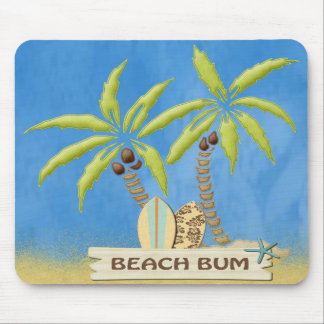 Tapis De Souris Palmiers et panneaux de surf