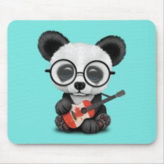 Tapis De Souris Panda de bébé jouant la guitare canadienne de