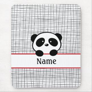 Tapis De Souris Panda personnalisé par noir rouge Mousepad