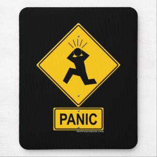 Tapis De Souris Panneau d'avertissement de panique