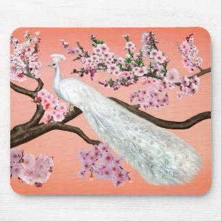 Tapis De Souris Paon de fleurs de cerisier
