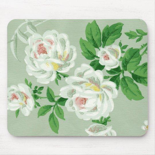 tapis de souris papier peint vert floral victorien vintage mousepa. Black Bedroom Furniture Sets. Home Design Ideas