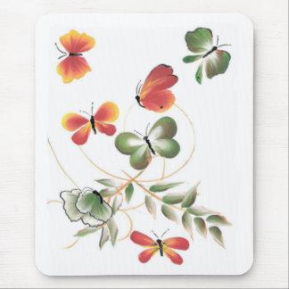 Tapis De Souris Papillons peints colorés