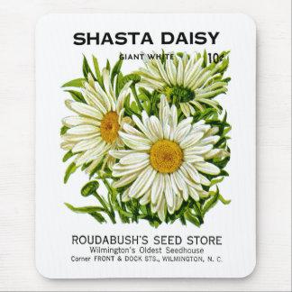 Tapis De Souris Paquet vintage de graine de marguerite de Shasta