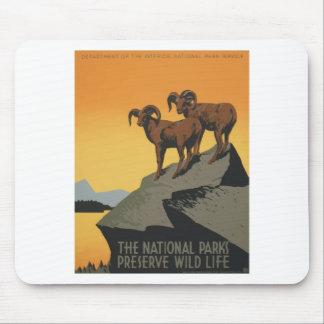 Tapis De Souris Parcs nationaux Amérique Etats-Unis d'affiche