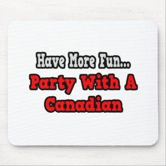 Tapis De Souris Partie avec un Canadien