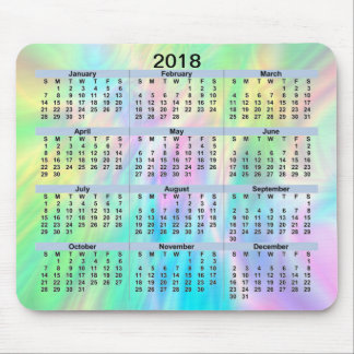 Tapis De Souris Pastel Mousepad de 2018 calendriers