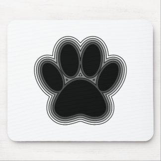 Tapis De Souris Patte de chien avec des contours