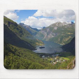 Tapis De Souris Paysage de fjord de Geiranger, Norvège